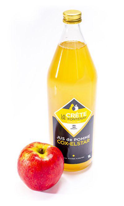 Jus de pommes cox-elstar La crête de fontenay
