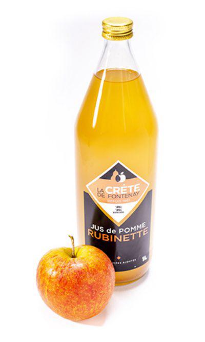 Jus de pommes Rubinette La crête de Fontenay