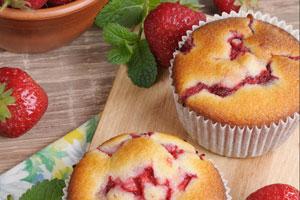 Muffin à la fraise