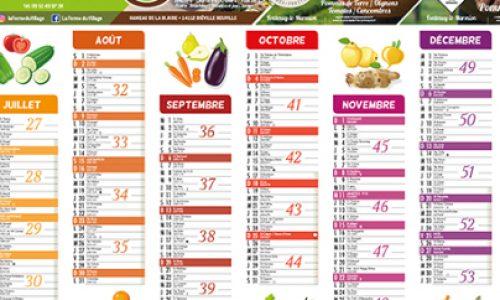 Calendrier des fruits et légumes de saisons La grande Ferme